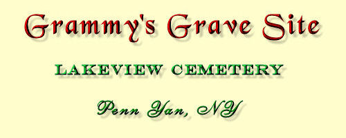 Grammy Grave Site Plot Banner